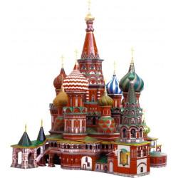 Catedral de San Basilio ( Moscú - Rusia ). Puzzle 3D de Montaje. Serie de edificios históricos. Marca Clever Paper. Ref: 14195.