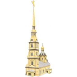Iglesia de San Pedro y San Pablo ( Rusia ). Puzzle 3D de Montaje. Serie de edificios históricos. Marca Clever Paper. Ref: 14100.