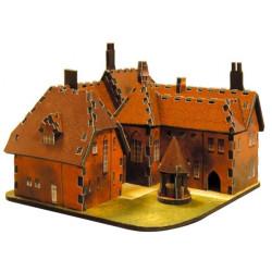 Casa Roja de William Morris. Puzzle 3D de Montaje. Serie de edificios históricos. Marca Clever Paper. Ref: 14194.