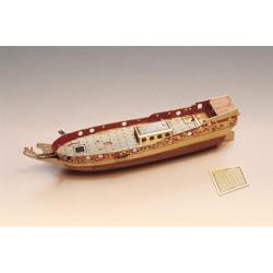 Yacht Holandes, nave en botella. Escala 1:300. Marca Amati. Ref: 1350.