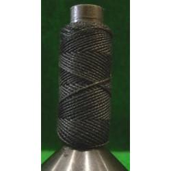 Hilo negro de algodón diámetro 0.75 mm ( 20 m ). Marca Amati. Ref: 412607.