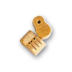 Moton violín 3 orificios de Boj, diámetro 8 mm  ( 2 uds. ).  Marca Artesanía Latina. Ref: 8534.