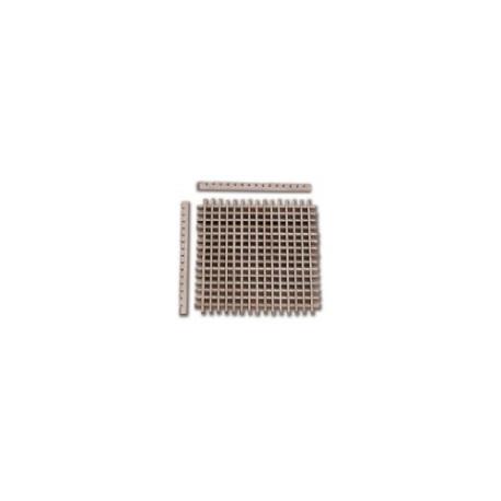 Enjaretado de haya de 55 x 55 mm  ( 30 uds. ).  Marca Artesanía Latina. Ref: 8558.