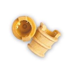 Balde de boj, diámetro 12 mm  ( 4 uds. ).  Marca Artesanía Latina. Ref: 8564.