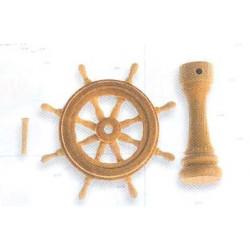 Conjunto de timón completo 30 mm.  Marca Artesanía Latina. Ref: 8573.
