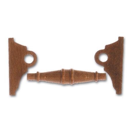 Cabestrante horizontal en nogal de 50 mm.  Marca Artesanía Latina. Ref: 8576.