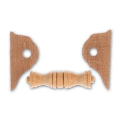 Cabestrante horizontal en nogal y haya de 32 mm.  Marca Artesanía Latina. Ref: 8577.