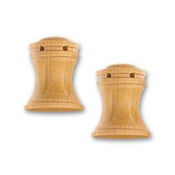 Cabestrante vertical fresado en boj de 16 mm,  2 uds.  Marca Artesanía Latina. Ref: 8579.