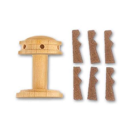 Cabestrante vertical + guardainfantes de 20 mm,  2 uds.  Marca Artesanía Latina. Ref: 8581.