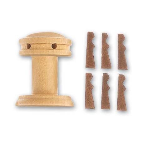 Cabestrante vertical + guardainfantes de 25 mm,  1 ud.  Marca Artesanía Latina. Ref: 8582.