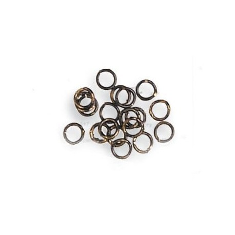 Anillas de latón pavonado diámetro 2 mm, ( 100 uds ). Marca Artesanía Latina. Ref: 8616.