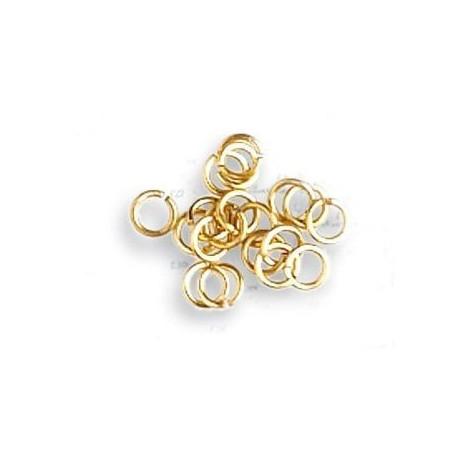 Anillas de latón diámetro 3 mm, ( 100 uds ). Marca Artesanía Latina. Ref: 8617.