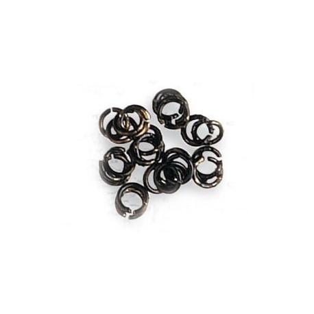 Anillas de latón pavonado diámetro 3 mm, ( 50 uds ). Marca Artesanía Latina. Ref: 8618.