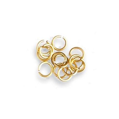 Anillas de latón diámetro 4 mm, ( 100 uds ). Marca Artesanía Latina. Ref: 8619.