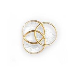 Anillas de latón diámetro 10 mm, ( 30 uds ). Marca Artesanía Latina. Ref: 8624.