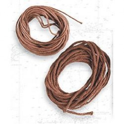 Hilo marrón de algodón diámetro 1.5 mm ( 5 m ). Marca Artesanía Latina. Ref: 8809.