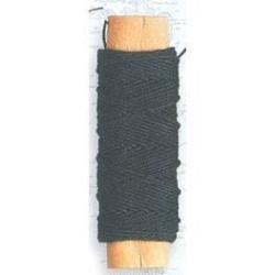 Hilo negro de algodón diámetro 0,50 mm ( 20 m ). Marca Artesanía Latina. Ref: 8812.