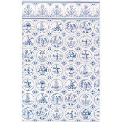 Papel con azulejo holandés comp.. Marca Jackson´s. Ref: 36808.