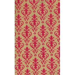 Papel victoriano rojo/oro. Marca Jackson´s. Ref: 36881.