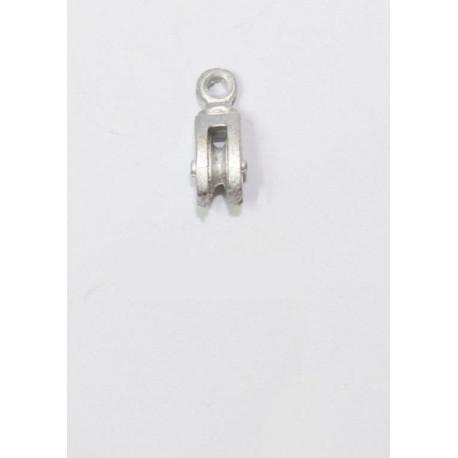 Poléa simple Metal, 11 mm  ( 6 ).  Marca Disarmodel. Ref: 20002.