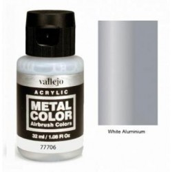 Acrilico Metal color, Aluminio blanco. Bote 32 ml. Marca Vallejo. Ref: 77706.