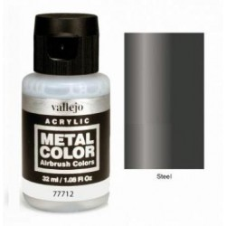 Acrilico Metal color, Acero. Bote 32 ml. Marca Vallejo. Ref: 77712.
