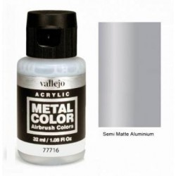 Acrilico Metal color, Aluminio satinado. Bote 32 ml. Marca Vallejo. Ref: 77716.