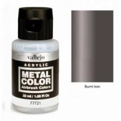 Acrilico Metal color, Hierro quemado. Bote 32 ml. Marca Vallejo. Ref: 77.721.