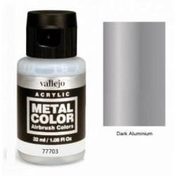 Acrilico Metal color, Aluminio oscuro. Bote 32 ml. Marca Vallejo. Ref: 77703.