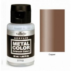 Acrilico Metal color,Cobre. Bote 32 ml. Marca Vallejo. Ref: 77.710.