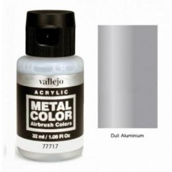 Acrílico Metal color, Aluminio mate. Bote 32 ml. Marca Vallejo. Ref: 77.717.