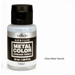 Acrilico Metal color, barniz metal brillante. Bote 32 ml. Marca Vallejo. Ref: 77.657.