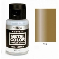 Acrilico Metal color, Oro. Bote 32 ml. Marca Vallejo. Ref: 77725.