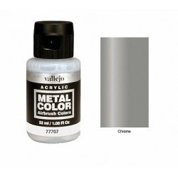 Acrilico Metal color, Crome. Bote 32 ml. Marca Vallejo. Ref: 77707.