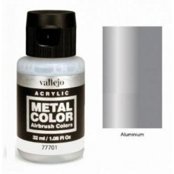 Acrilico Metal color, Aluminio. Bote 32 ml. Marca Vallejo. Ref: 77.701.