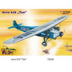 "Set avión Avro 618 ""Ten"". Escala 1:72. Marca Valom. Ref: 72039."