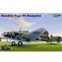 Set avión Handley page P5 Hampden. Escala 1:72. Marca Valom. Ref: 72045.