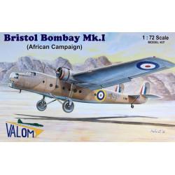 Set avión Bristol Bombay MKI. Escala 1:72. Marca Valom. Ref: 72056.