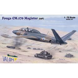 Set avión Fouga CM.170 Magister (IAF). Escala 1:72. Marca Valom. Ref: 72088.