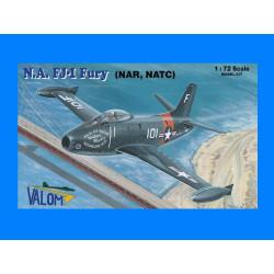 Set avión N.A. FJ-1 Fury (NATC, NAR). Escala 1:72. Marca Valom. Ref: 72104.