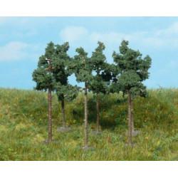 Lote de 6 pinos de 6 cm de medida, Valido para escala N, Marca Heki, Ref: 1152.