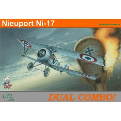 Caza biplano Nieuport Ni-17 Dual combo. Escala 1:72. Marca Eduard. Ref: 7071.