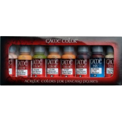 Set Game color, tonos piel 8 colores. Bote 17 ml. Marca Vallejo. Ref: 72.295.
