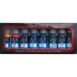 Set Game color, tinta de 8 colores. Bote 17 ml. Marca Vallejo. Ref: 72.296.