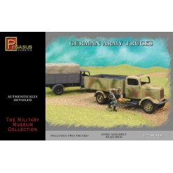Trucks army German, 2 piezas. Escala 1:72. Marca Pegasus. Ref: PG7610.