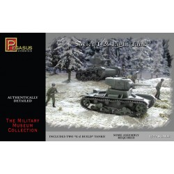 Tanque ligero T-26 soviético. 2 piezas. Escala 1:72. Marca Pegasus. Ref: PG7671.
