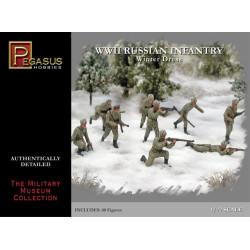 Infantería Rusa con uniformes de invierno de la WWII. Escala 1:72. Marca Pegasus. Ref: PG7269.