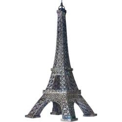 Edificio la Torre Eiffel, color plata. Puzzle 3D de Montaje. Serie de edificios históricos. Marca Clever Paper. Ref: 142892.