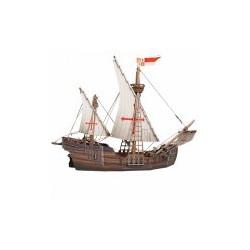 Barco , La Carabela. Puzzle 3D de Montaje. Serie Medieval. Marca Clever Paper. Ref: 14390.