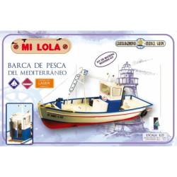 Barca de pesca, Mi Lola. Escala 1:25. Marca Carthagonova. Ref: 50202.